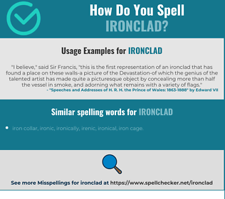 Correct spelling for ironclad