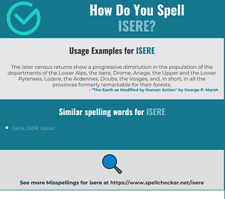 Correct spelling for isere