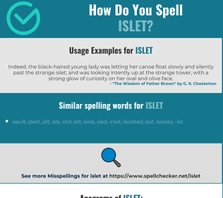 Correct spelling for islet