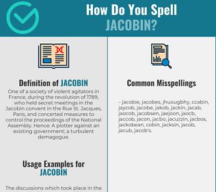 Correct spelling for jacobin
