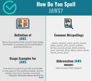 Correct spelling for jaws
