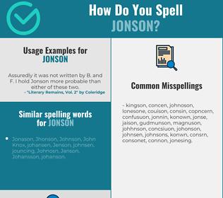 Correct spelling for jonson