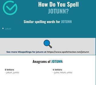 Correct spelling for jotunn