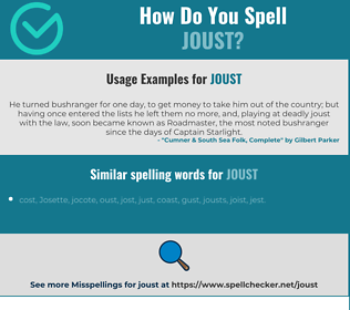 Correct spelling for joust