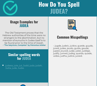 Correct spelling for judea