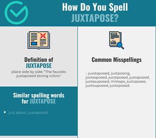 Correct spelling for juxtapose