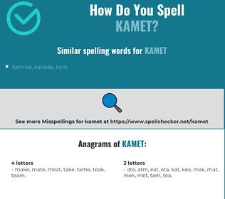 Correct spelling for kamet