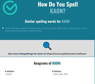 Correct spelling for kaon