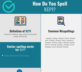 Correct spelling for kepi