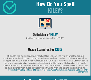 Correct spelling for kiley