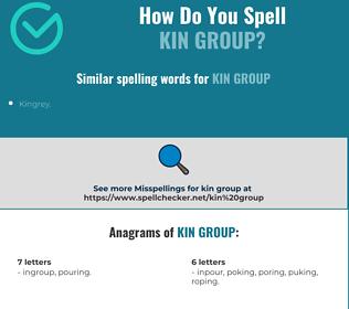 Correct spelling for kin group