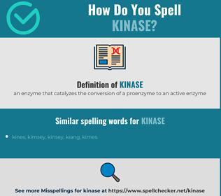 Correct spelling for kinase