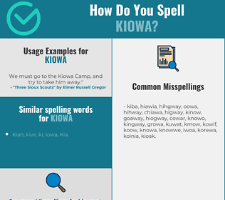 Correct spelling for kiowa