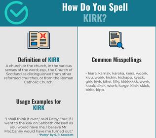 Correct spelling for kirk