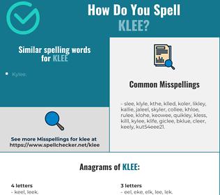 Correct spelling for klee
