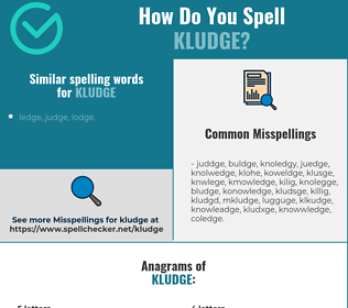 Correct spelling for kludge
