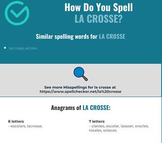 Correct spelling for La Crosse
