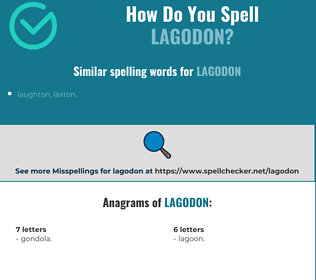 Correct spelling for lagodon