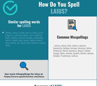 Correct spelling for laius