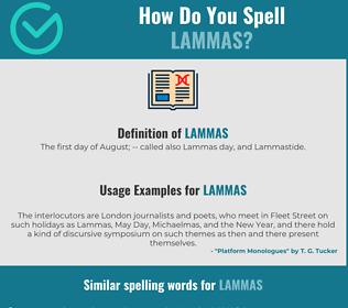 Correct spelling for lammas