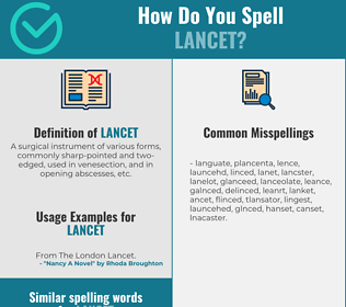 Correct spelling for lancet