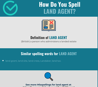 Correct spelling for land agent