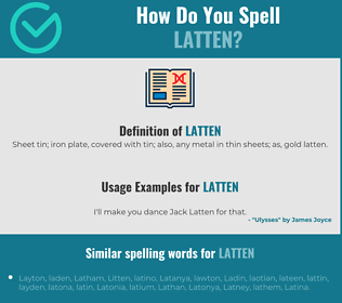 Correct spelling for latten