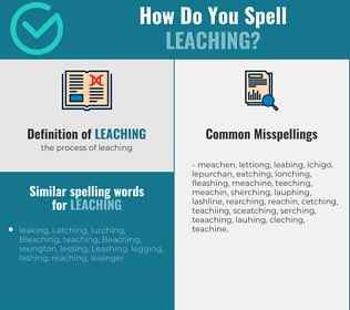 Correct spelling for leaching