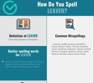 Correct spelling for leaver