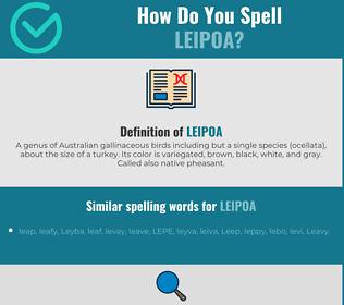 Correct spelling for leipoa