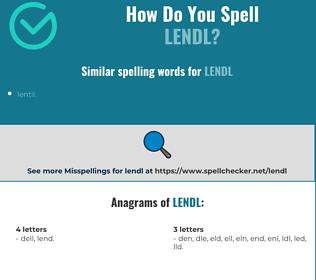 Correct spelling for lendl