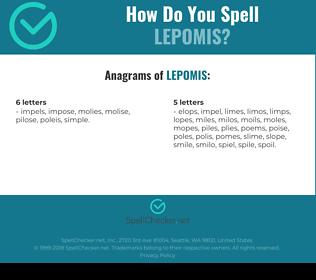 Correct spelling for lepomis