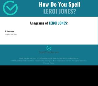 Correct spelling for Leroi Jones