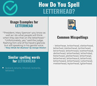 Correct spelling for letterhead