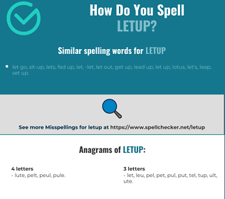 Correct spelling for letup