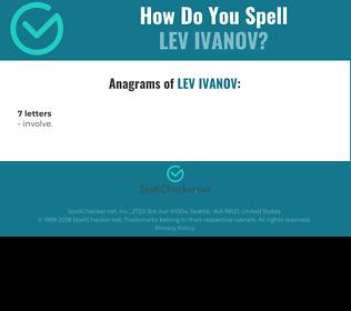 Correct spelling for Lev Ivanov