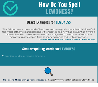 Correct spelling for lewdness