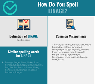 Correct spelling for linage