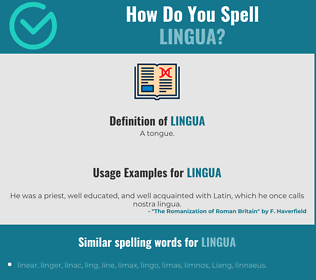Correct spelling for lingua