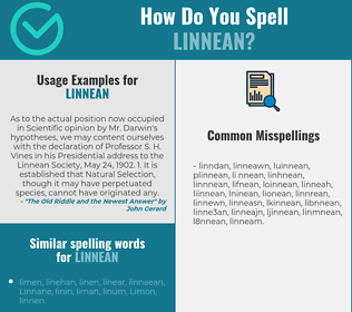 Correct spelling for linnean