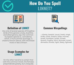 Correct spelling for linnet