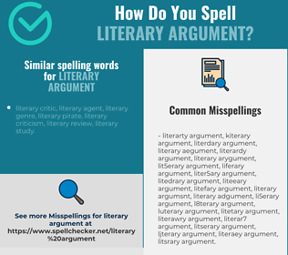 Correct spelling for literary argument