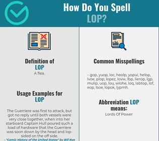 Correct spelling for lop