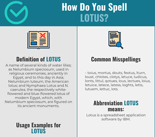 Correct spelling for lotus