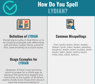 Correct spelling for lydian