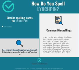 Correct spelling for lynchpin