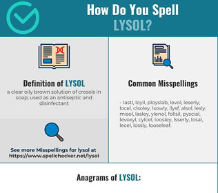 Correct spelling for lysol