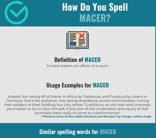 Correct spelling for macer