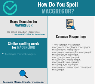 Correct spelling for macgregor