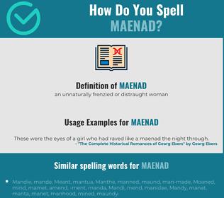 Correct spelling for maenad